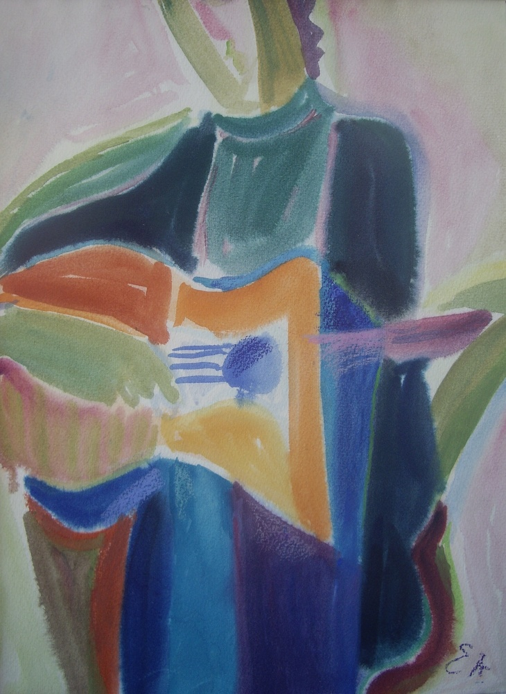 lot 6. «Son with a guitar»